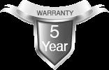 5 Years Free Warranty
