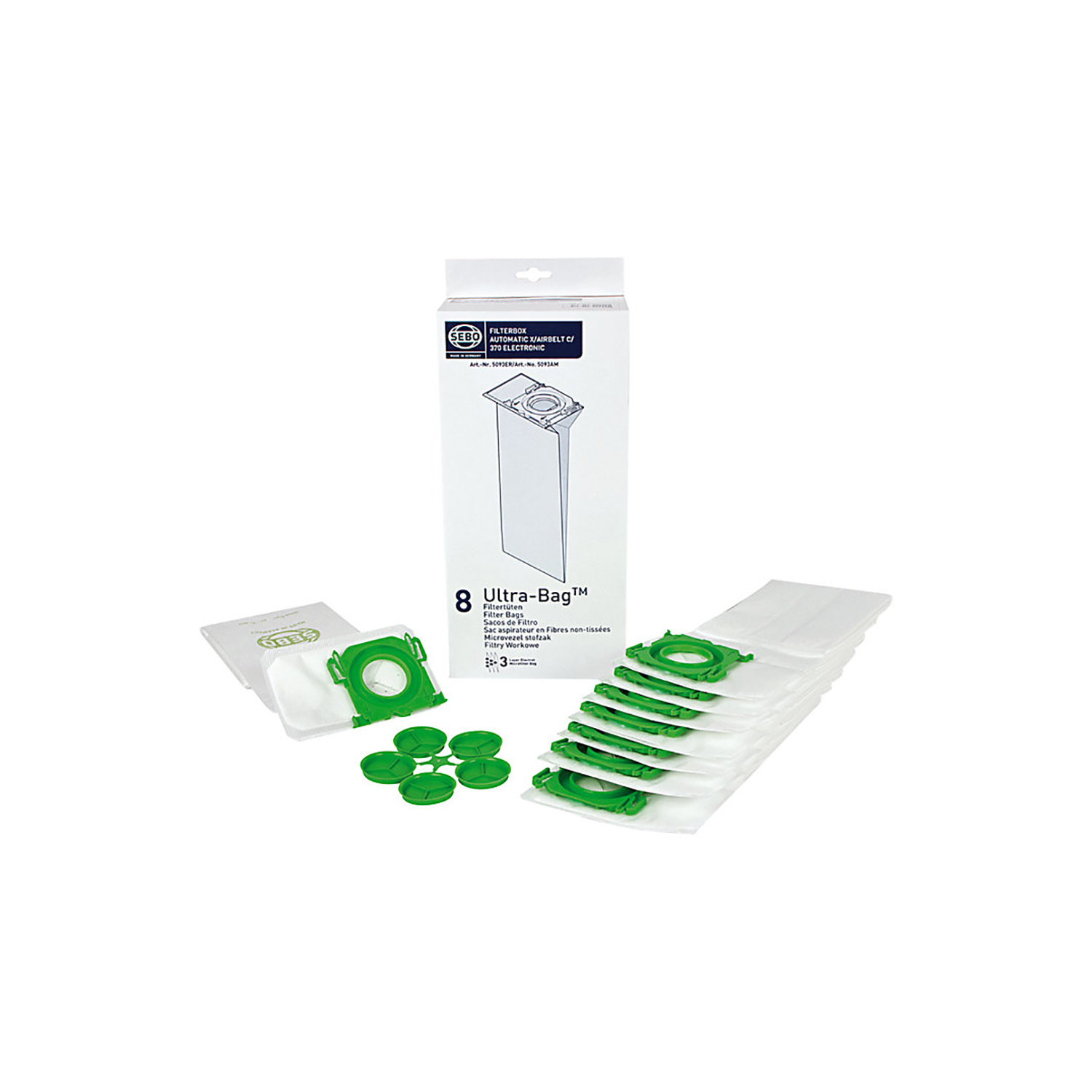 50 x 5093ER Dust Bags for SEBO Automatic X Vacuum Cleaner NEW