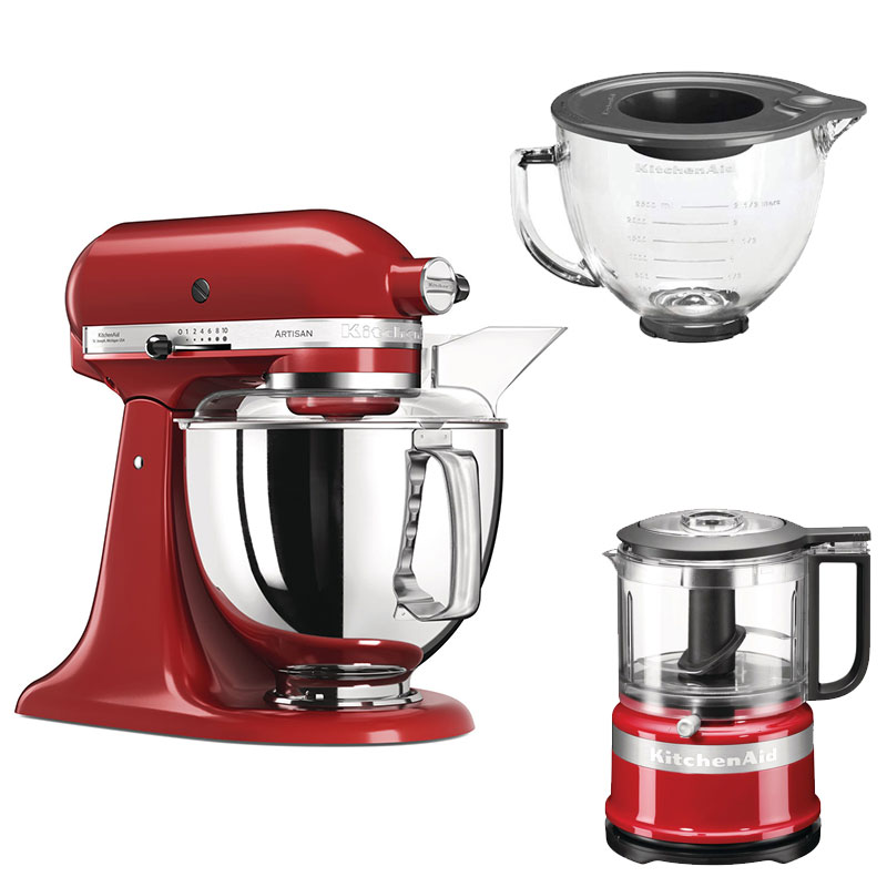 Kitchenaid Artisan Mixer In Empire Red 5ksm175psber With Free Gifts