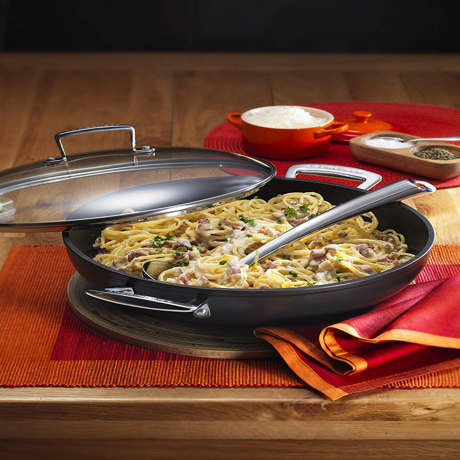Le Creuset Toughened Non Stick 30cm Shallow Casserole In