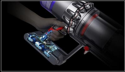 Person holds handheld cordless Dyson V11 Absolute - FreeNET Electrical