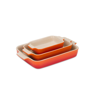 Le Creuset 3 Piece Stoneware Set in Volcanic